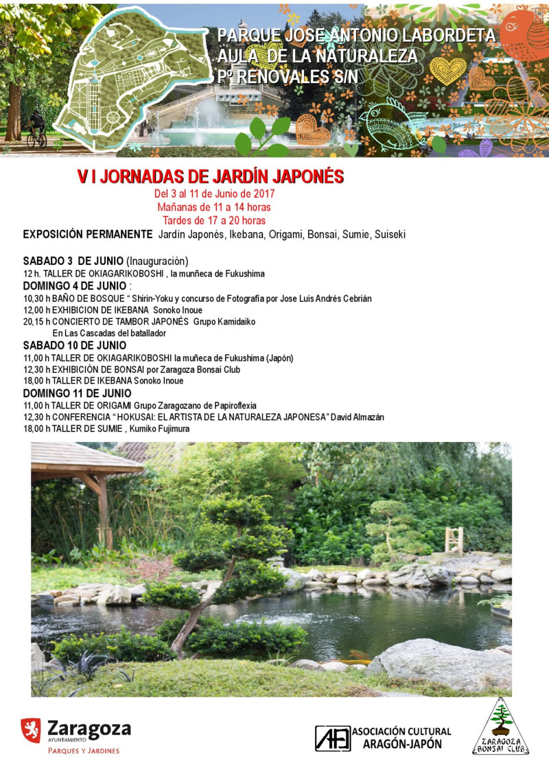 Finalizado vi jornadas de jard n japon s en zaragoza for Jardin japones horarios